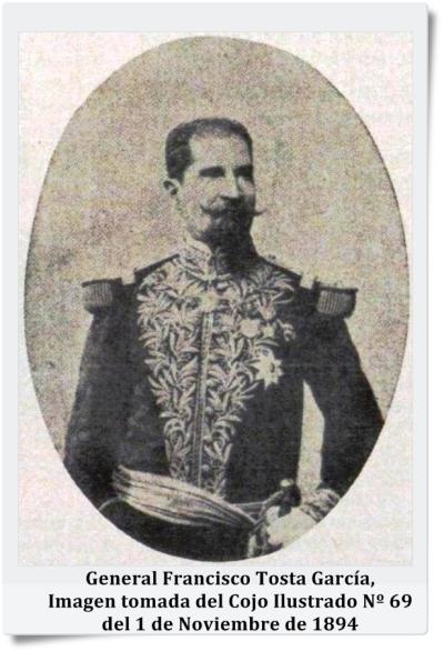 Francisco Tosta García, Imagen tomada del Cojo Ilustrado Nº 69 del 1 de Noviembre de 1894