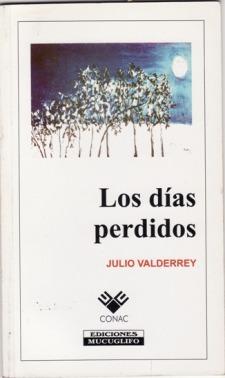 """portada del Libro """"Los días perdidos"""" de julio Valderrey"""